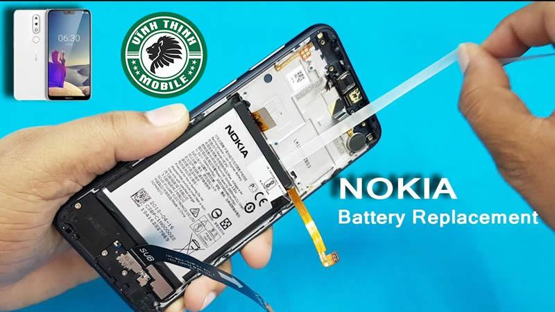 Lưu ý thay pin Nokia 6.1 Plus tại Sửa Chữa Vĩnh Thịnh