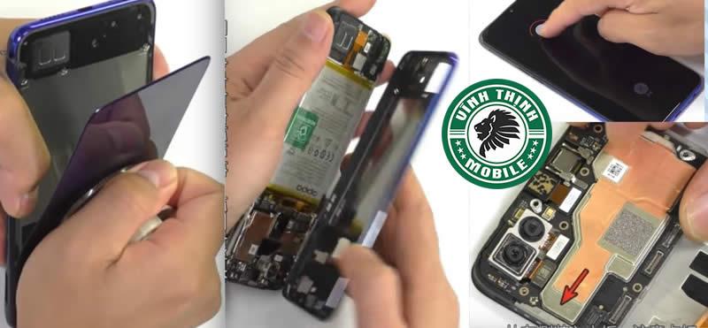 Quá trình thay mặt kính Oppo F9 - Bước 1