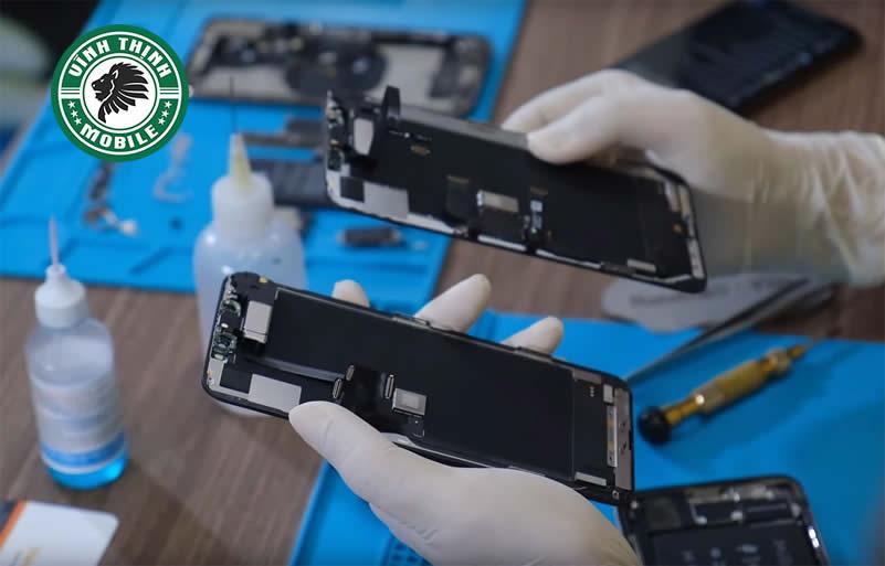 Các bước cụ thể trong quy trình thay mặt kính iPhone 11 Pro