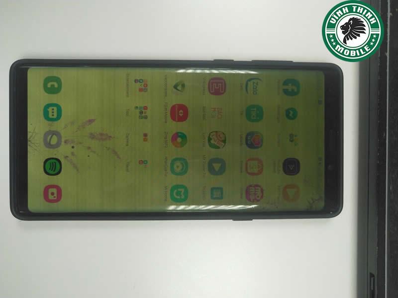 Samsung Note 9 màn hình ám xanh